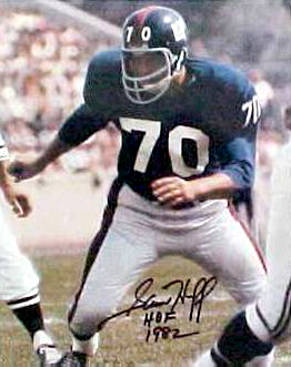 Autographed Sam Huff New York Giants NFL 8x10 Photo Pictures